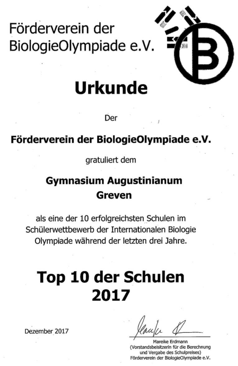 Gymnasium Augustinianum Greven » Ausblick/ Rückblick